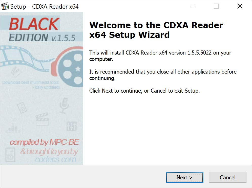 CDXA Reader 1.5.4.4557 screenshot