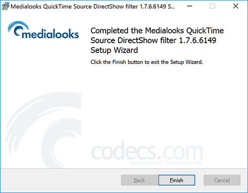 QuickTime DirectShow Source Filter 1.7.6 screenshot