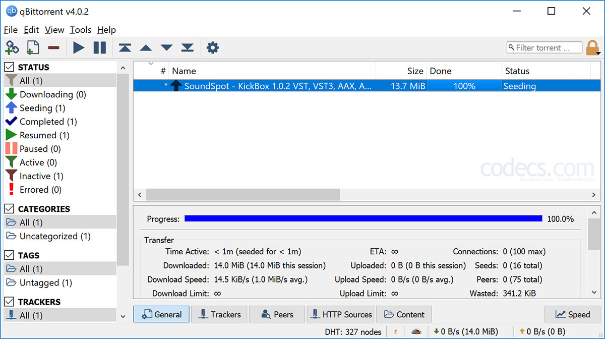 qBittorrent 4.3.3 screenshot