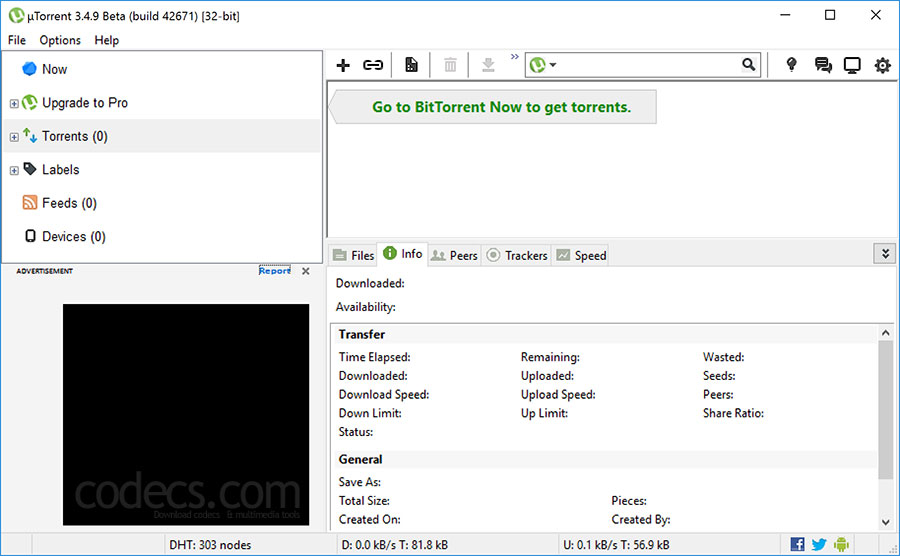 uTorrent 3.5.5.45838 screenshot
